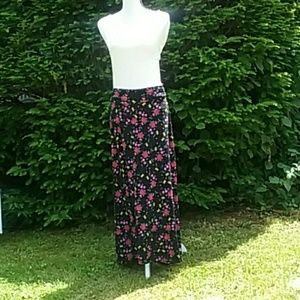 Lularoe Black Flower Print Skirt